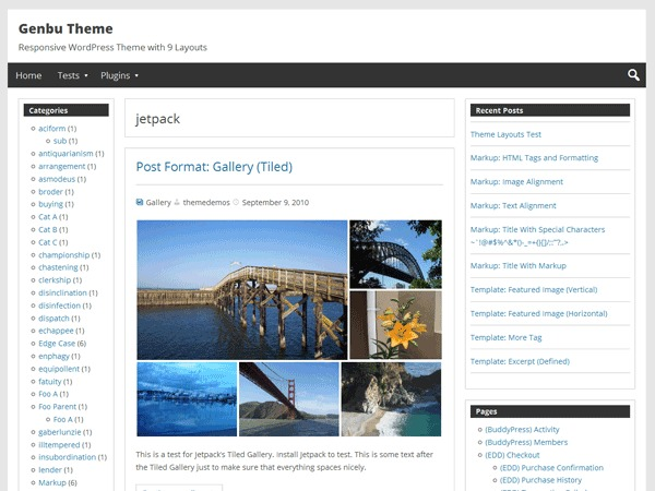 Genbu WordPress theme