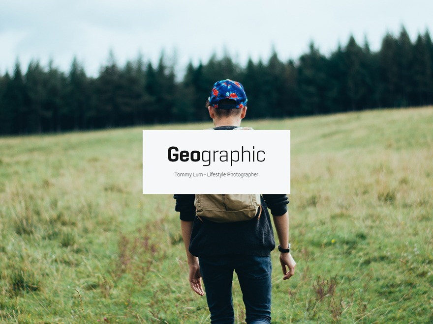Geographic WordPress theme image