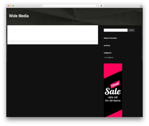 Gibson WordPress blog template - widemedia.com.au
