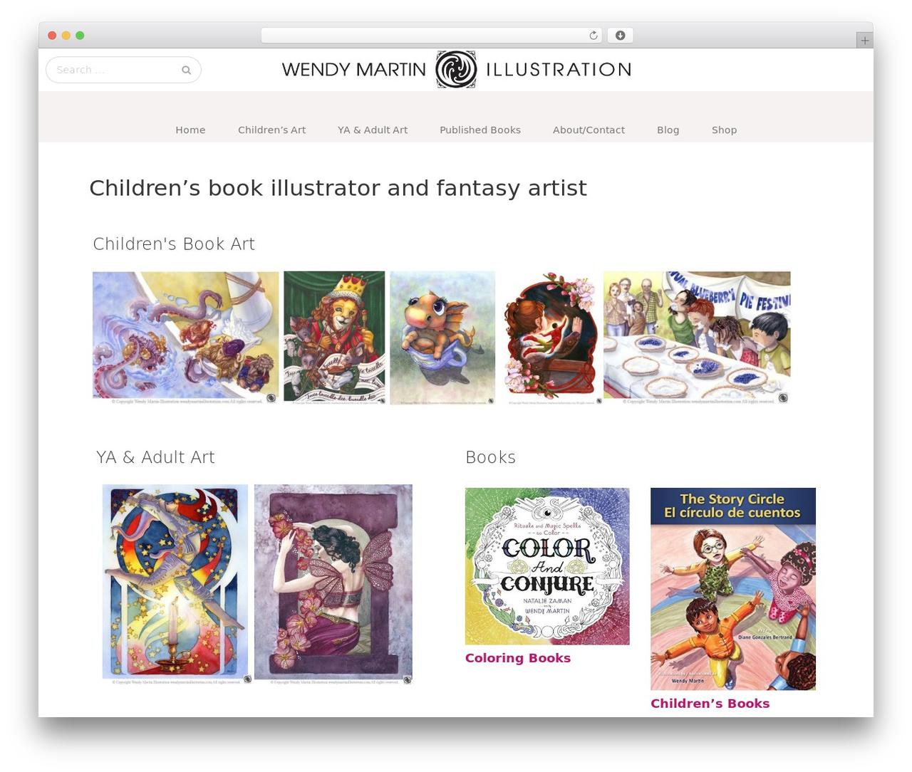 GK Portfolio free WordPress theme - wendymartinillustration.com