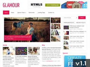 Glamour WordPress theme