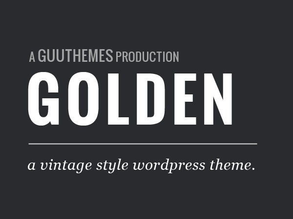 Golden free WordPress theme