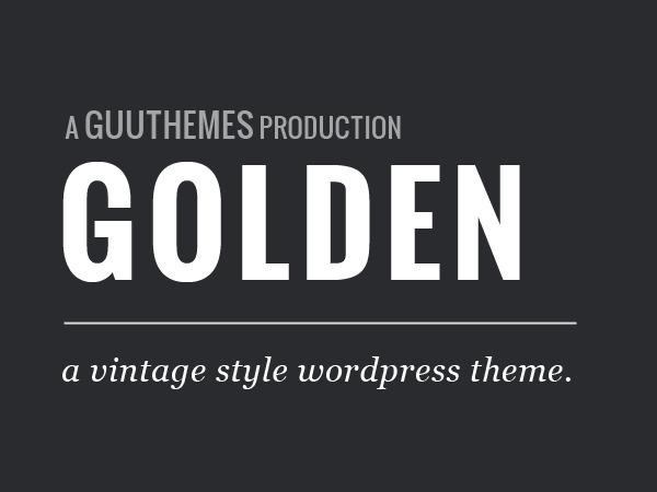 Golden free WordPress theme