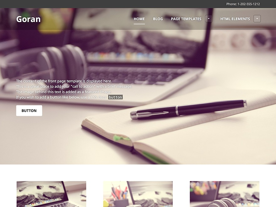 Goran free WP theme