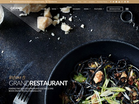 Grand Restaurant WordPress restaurant theme