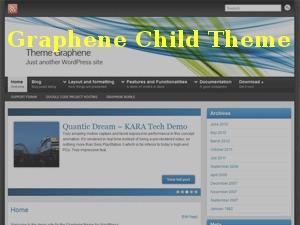 Graphene Child WordPress template