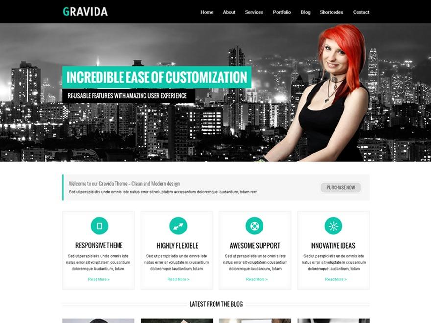 Gravida template WordPress free