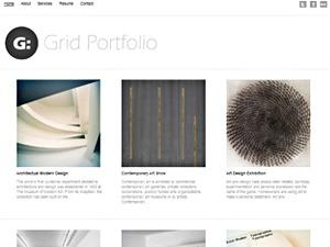 Grid Portfolio WordPress portfolio template