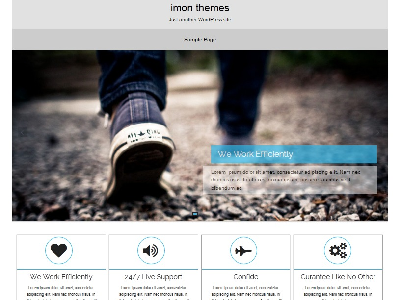 Hapy free WordPress theme