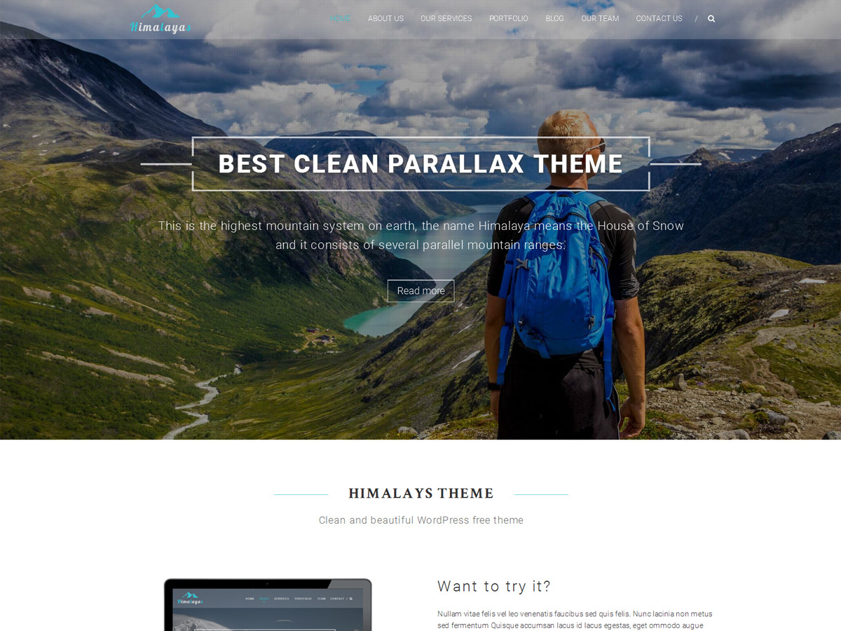 Himalayas best portfolio WordPress theme