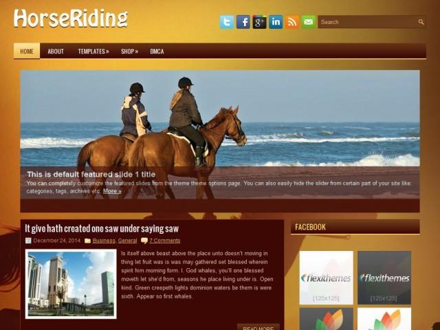 HorseRiding WordPress blog template