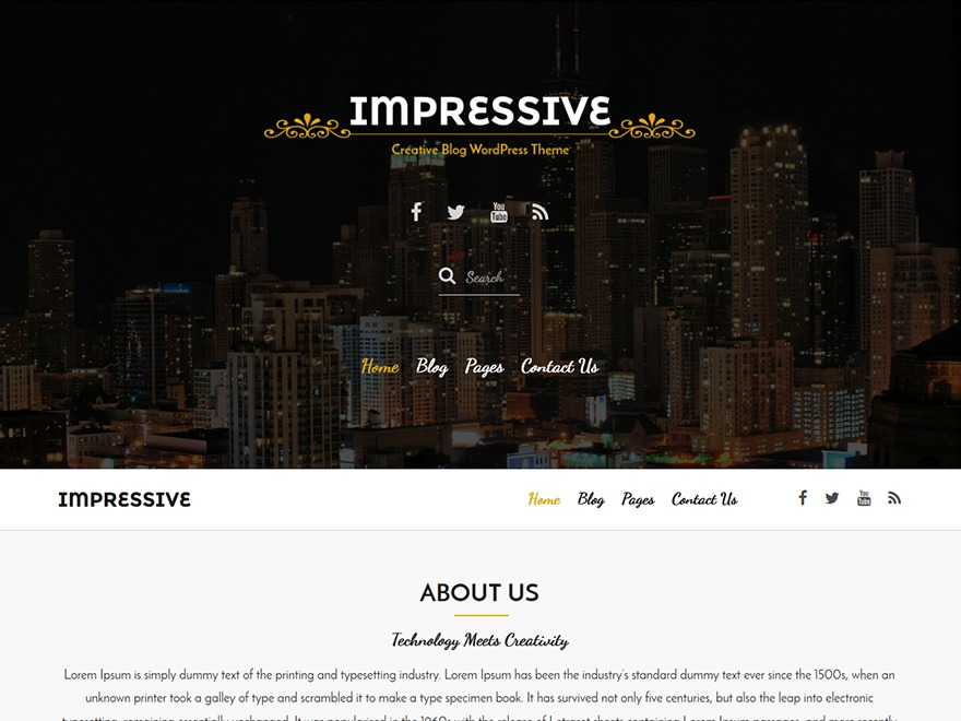 Impressive free WordPress theme