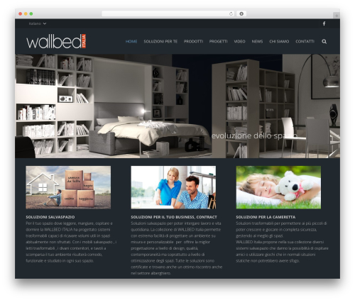 Impreza WordPress website template - wallbeditalia.it