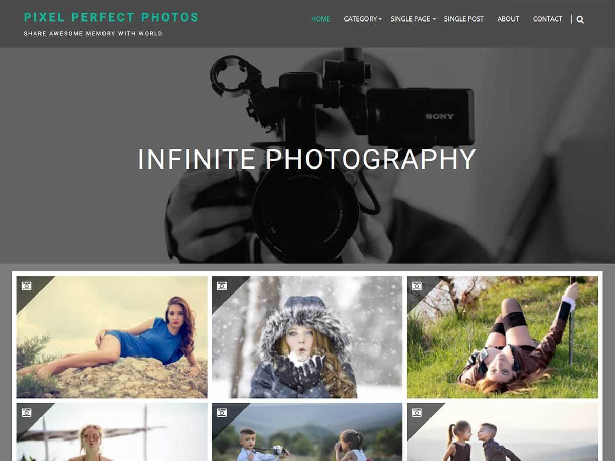 Infinite Photography best free WordPress theme