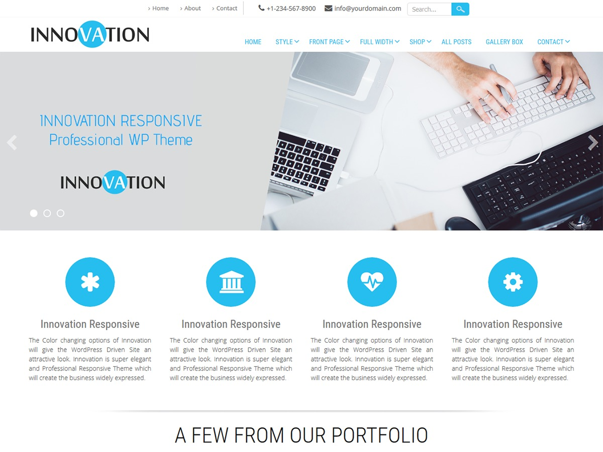 Innovation Lite WordPress template free download