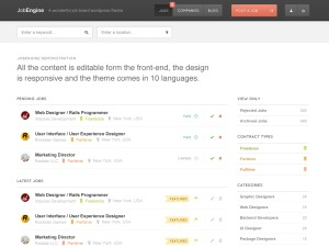 JobEngine template WordPress