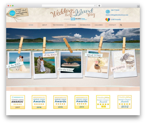 Jupiter best WordPress theme - weddingstheislandway.com