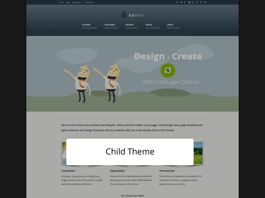 Karma Child Theme WP template