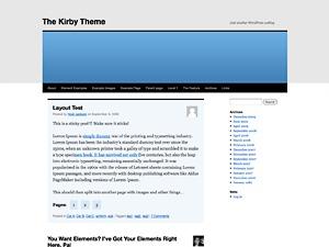 Kirby best WordPress theme
