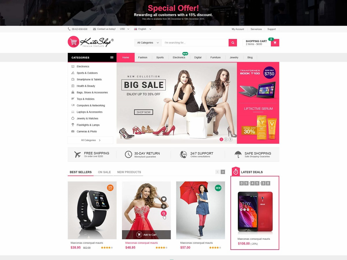 KuteShop Child WordPress shop theme