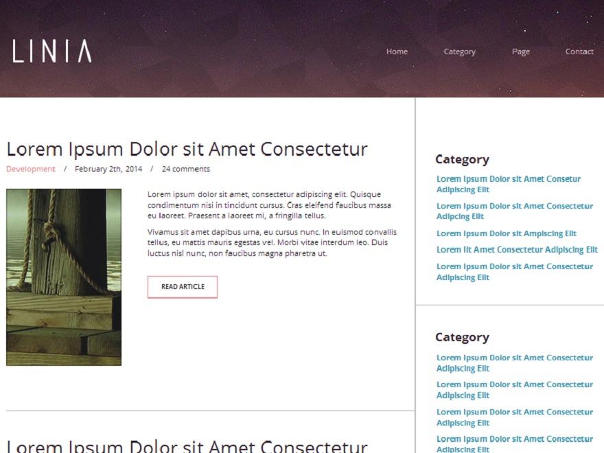 Linia WordPress blog template
