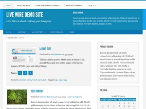 Live Wire WordPress blog theme