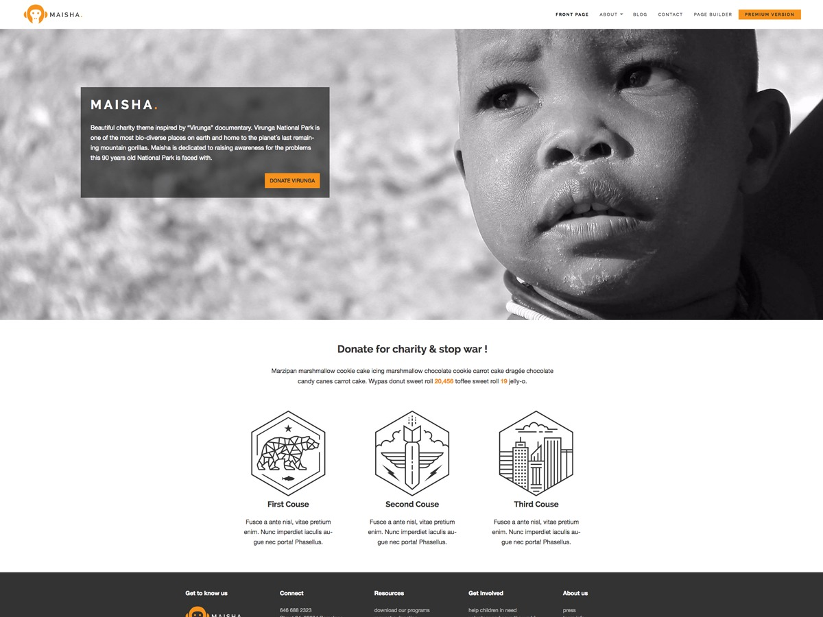 Maisha Lite WordPress theme free download