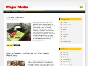 Major Media WordPress blog template