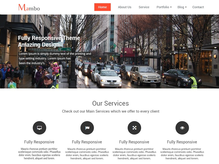 Mambo WordPress theme free download