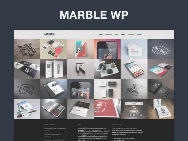 Marble WordPress website template