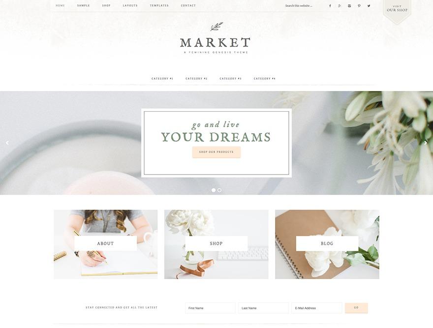 Market Theme WordPress ecommerce theme