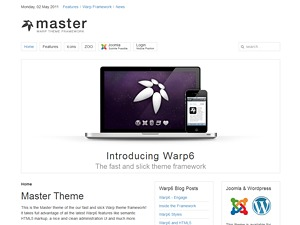Master WordPress theme