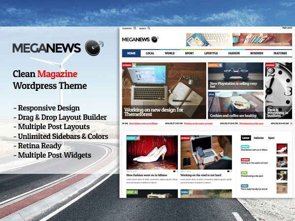 MegaNews WordPress news template