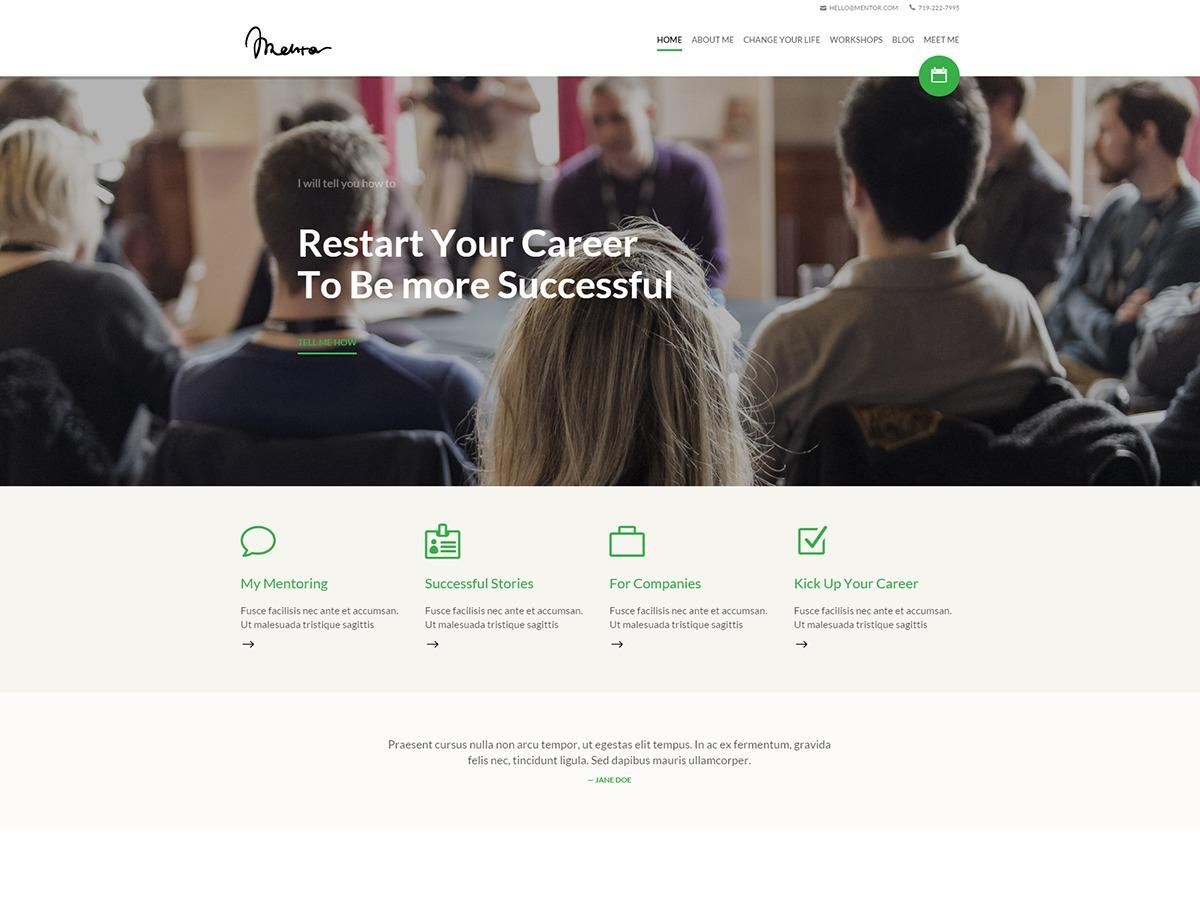 Mentor WordPress theme design