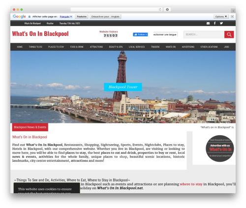 MH Newsdesk newspaper WordPress theme - whatsoninblackpool.net