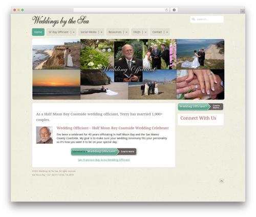 MiCasa best wedding WordPress theme - weddingsbythesea.com