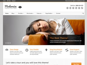 Modernize top WordPress theme