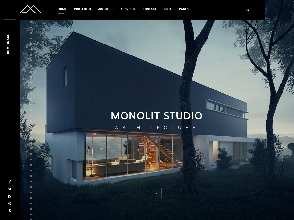 Monolit Child WordPress template for photographers