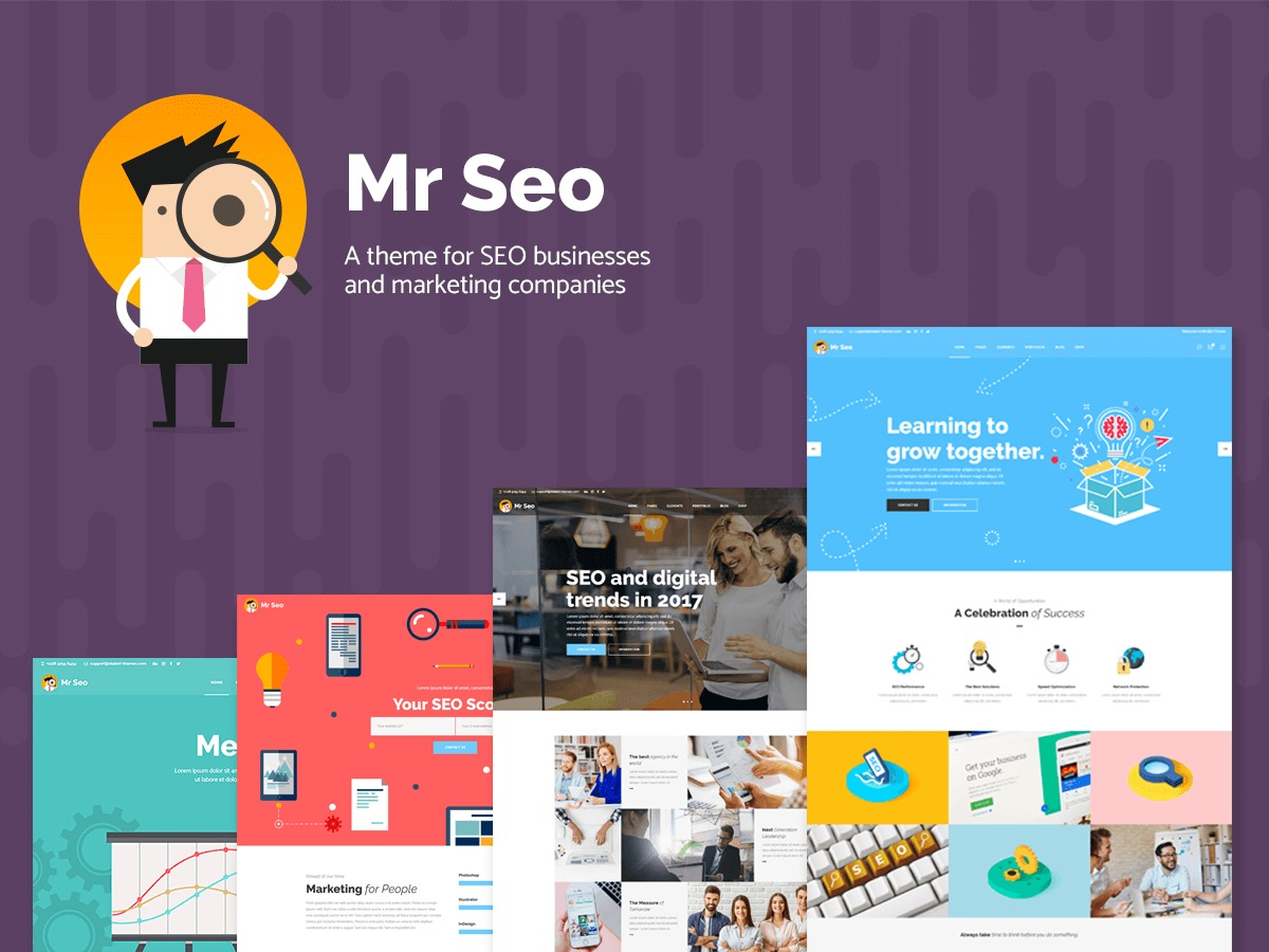 MrSEO Child WordPress page template