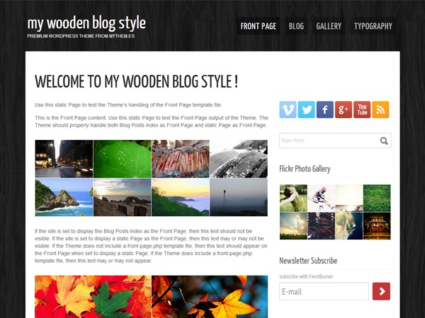 my wooden under construction WordPress news template