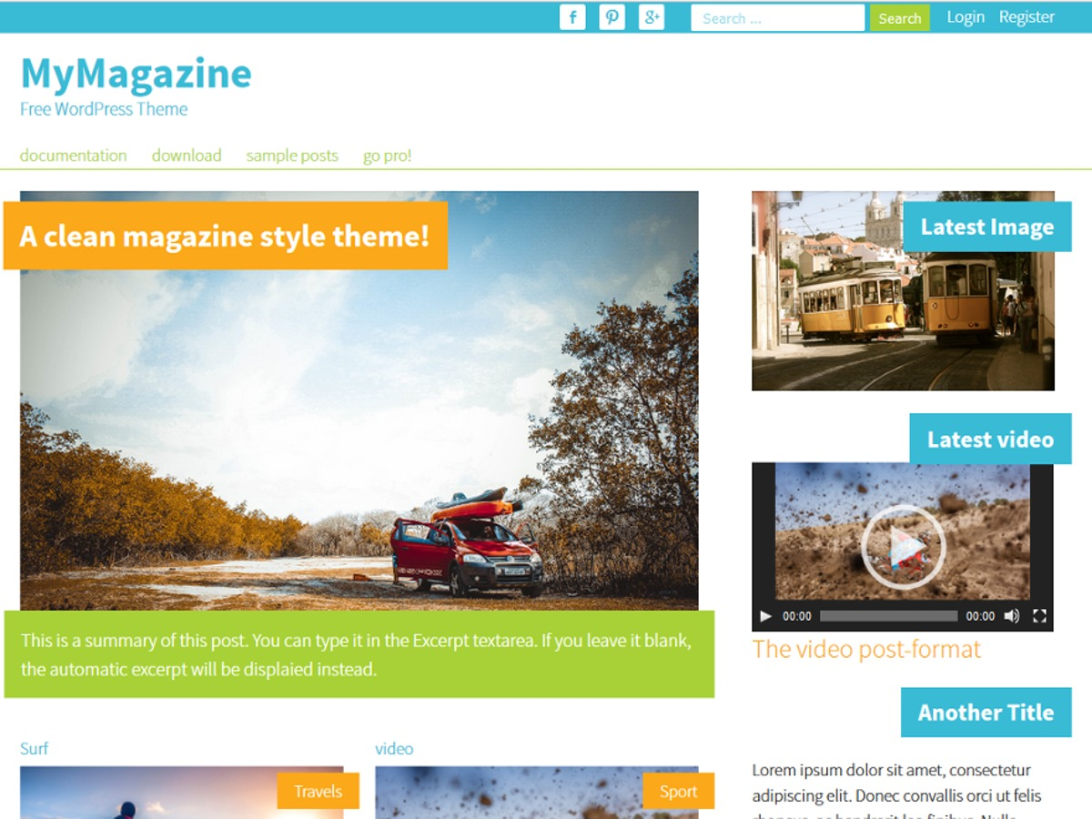 MyMagazine best WordPress magazine theme
