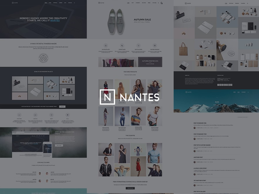 Nantes WordPress shop theme