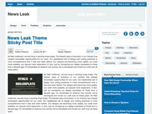 News Leak newspaper WordPress theme