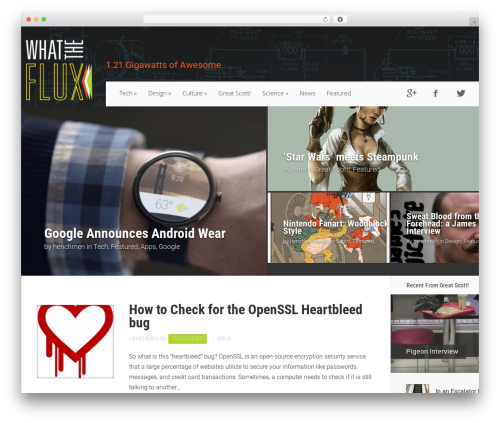Nexus WordPress theme - whattheflux.com