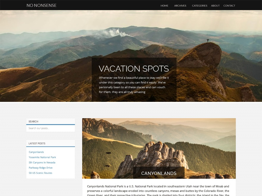 No Nonsense WordPress blog template