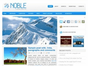 Noble WordPress blog template