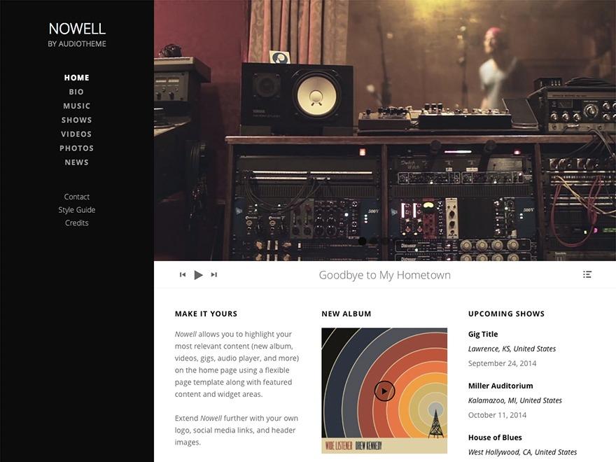Nowell WordPress video template