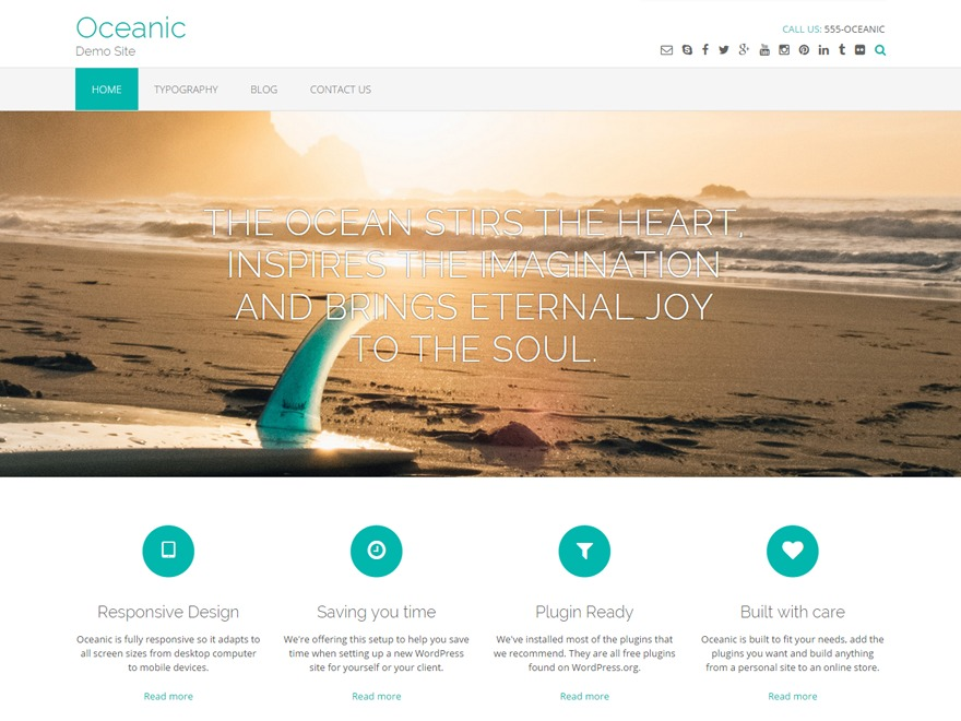 Oceanic Premium WordPress shopping theme