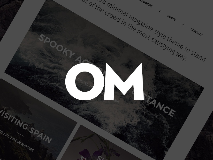 Om WordPress blog template