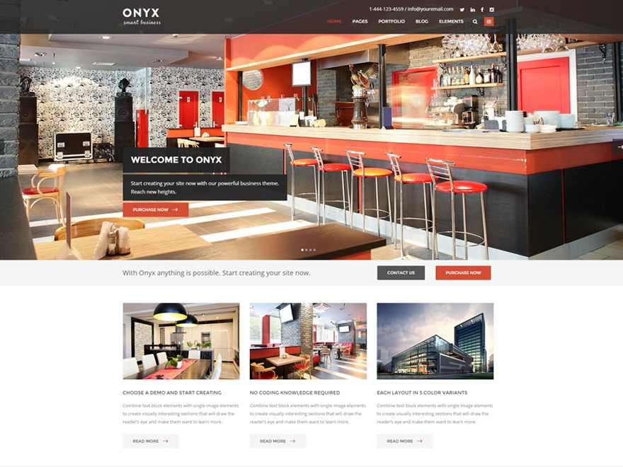 Onyx WordPress website template